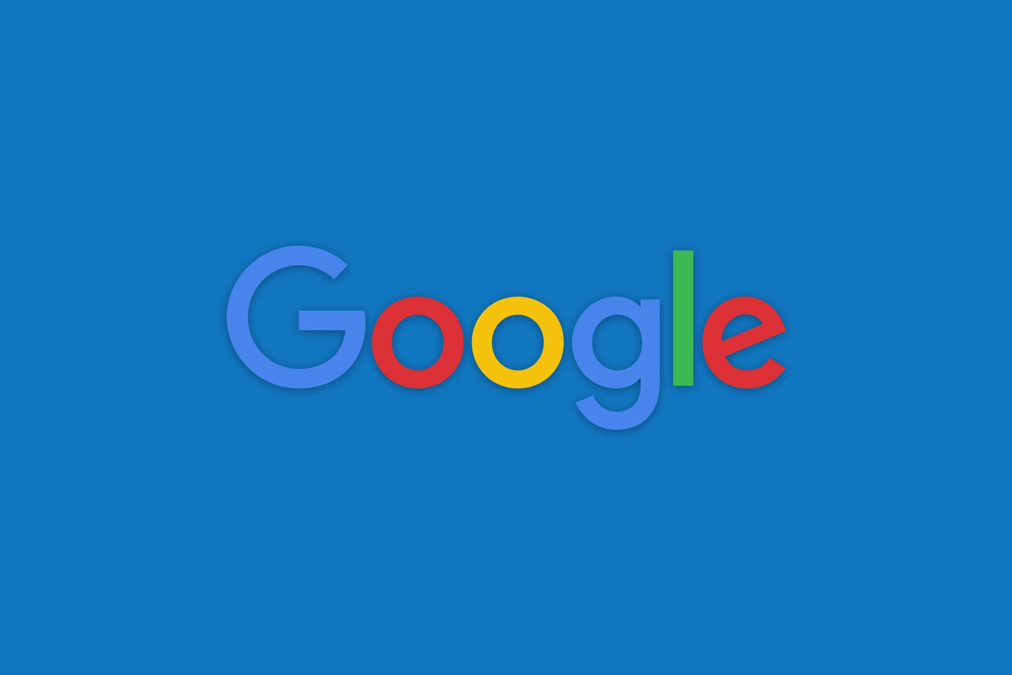 Google logo on blue background - improve your searches on Google