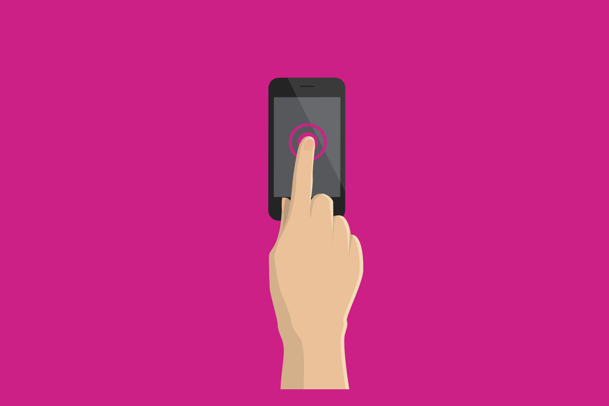 Finger touching phone screen - Mobile first must become mobile only