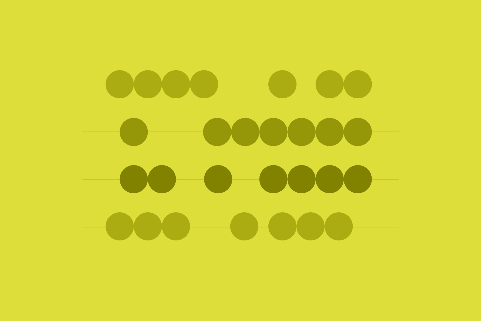 Dots on yellow background - Website budget