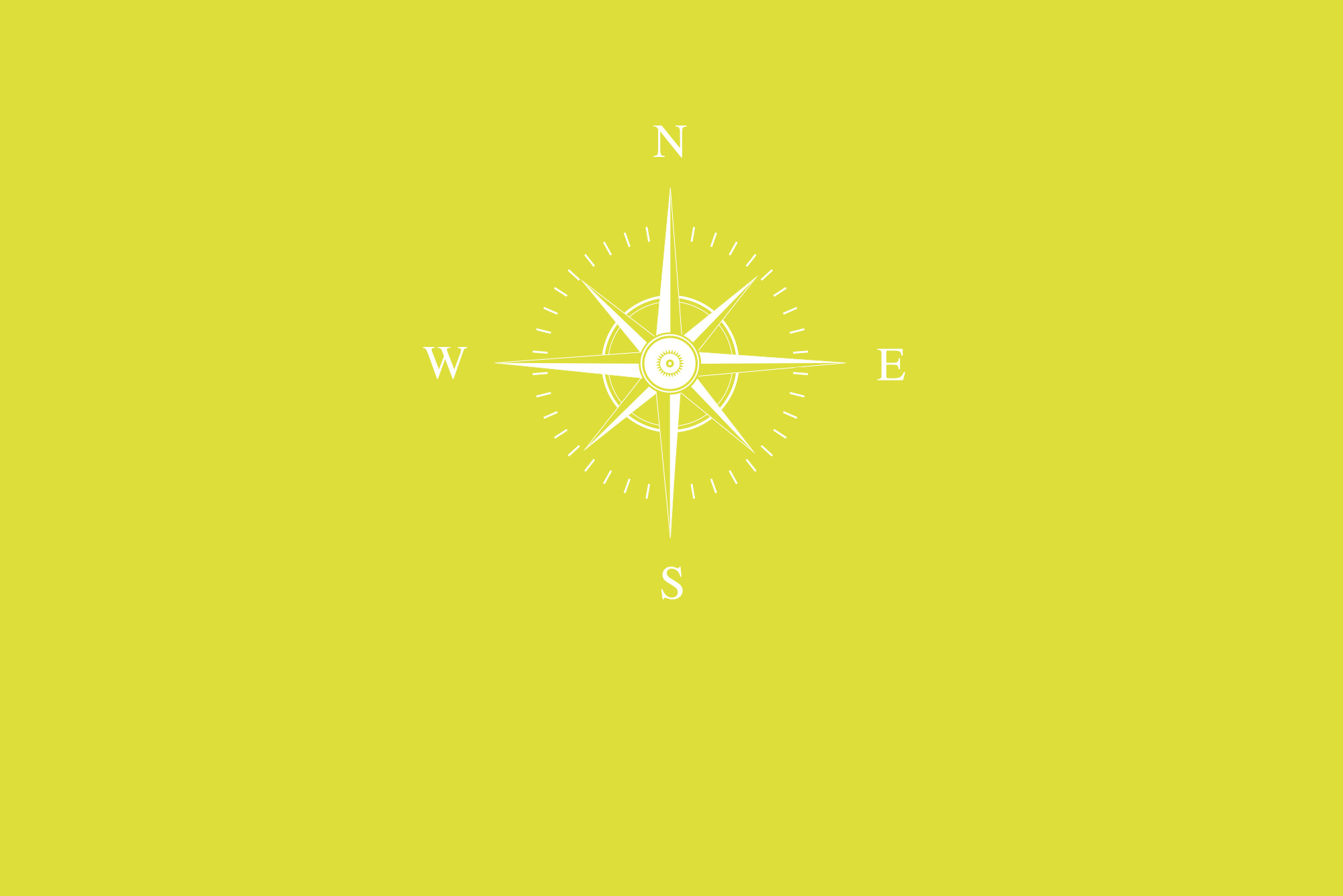 Compass on yellow background - Discovery sessions