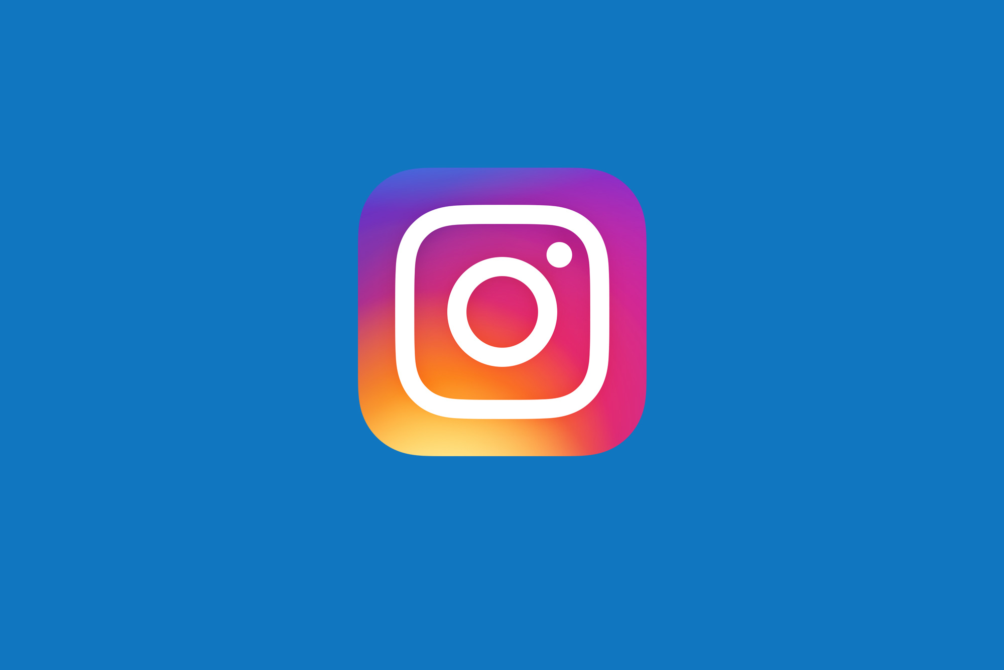 Instagram logo on blue background - How to use Instagram for business