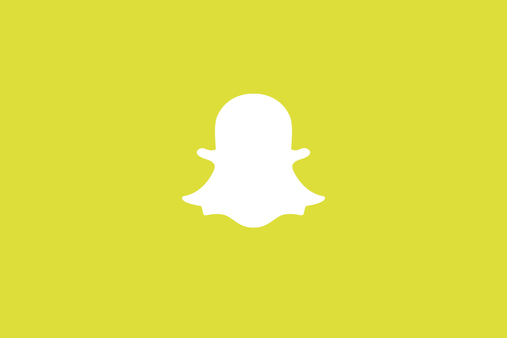 Snapchat icon on yellow background
